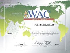 Work All Continent Award