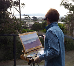 An example of a day painting en Plein-Air.