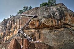 Der Weg auf das Plateau des Sigiriya Rock