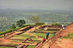 Auf dem Sigiriya Rock Plateau in Sri Lanka