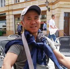 Koyama-san beim Urlaub inm Dresden 2016