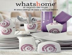 Whats Home venta por catalogo de productos para hogar, mesa y cocina. Venta de articulos para cocina, mesa y hogar en Mexico.