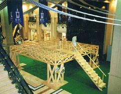 木組の立体トラス展示会