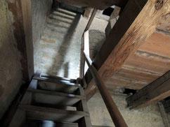Hier begann der Aufstieg zum Glockenturm
