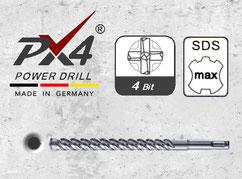 px4 hamerboren met 4 snijder en sds max opname