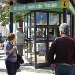 Touristen-Informationen auf Ibiza