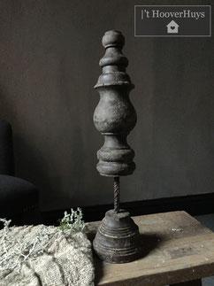 Ornament hout sober kandelaar