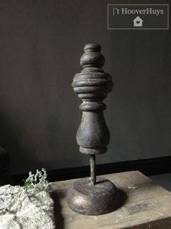 Ornament hout kandelaar