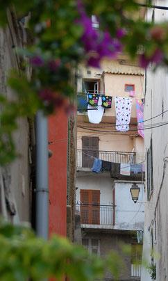 Wäschetrocknen in Ligurien