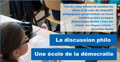 Discussion philo: école de la DEMOCRATIE