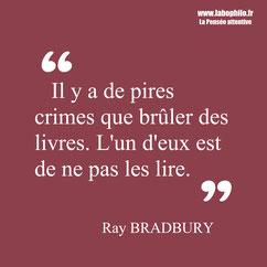Ray Bradbury citation