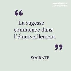 Socrate citation sagesse émerveillement
