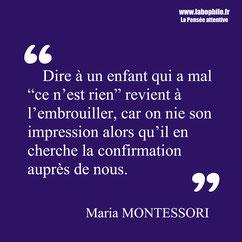 Maria Montessori citation éducation
