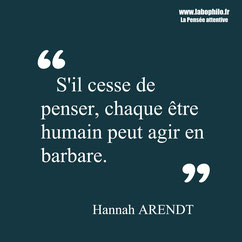 Hannah Arendt citation.