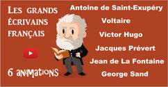 ÉCRIVAINS FRANÇAIS: 6 animations