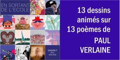 13 poèmes animés de PAUL VERLAINE