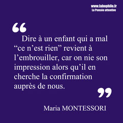 Maria Montessori citation éducation