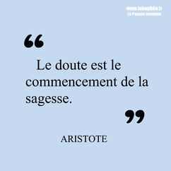 Aristote citation sagesse