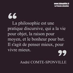 André Comte-Sponville citation bonheur sagesse