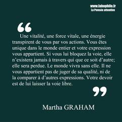 Martha Graham citation