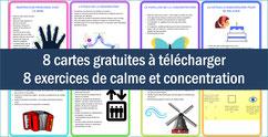 CALME/CONCENTRATION: 8 cartes