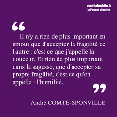 André Comte-Sponville citation humilité