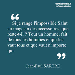 Jean-Paul Sartre citation
