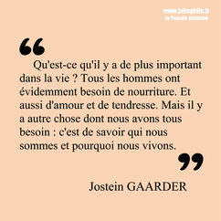 Jostein Gaarder citation