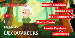GRANDS DÉCOUVREURS: 6 animations