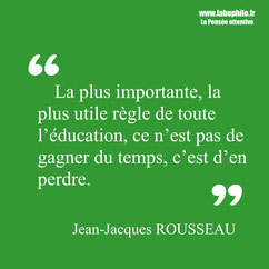 Rousseau citation éducation