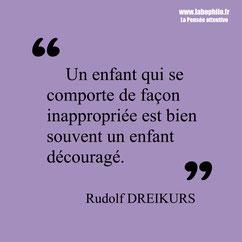 Rudolf Dreikurs citation