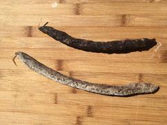 Fuet d'Angus nature ou épicé vendu en vente directe par la Ferme de Neuvy dans le Cher