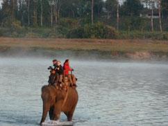 Elefantensafari im Chitwan Nationalpark