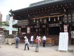大阪天満宮(参加者のなかに50余年前結婚式を挙げた人がいた)
