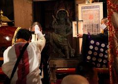 右上の御軸が中山寺の「御宝」