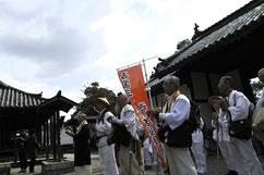 叡福寺、聖徳太子御廟で法楽