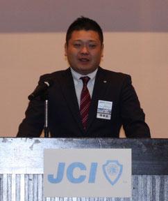 福知山JC・上田公平理事長によるご挨拶