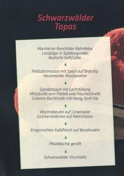 Schwarzwäder Tapas Speisekarte