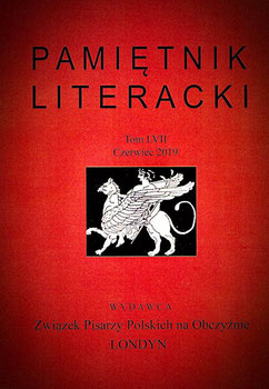 Stefan Zajonz / List do redakcji - Brief an die Redaktion /  Pamiętnik Literacki LVII, str. 272; 10.2019 / London