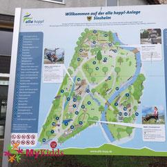 Übersichtskarte alla hopp! Anlage Sinsheim