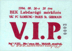 Ticket  Vac-PSG  1994-95