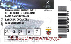 Ticket  Benfica-PSG  2013-14