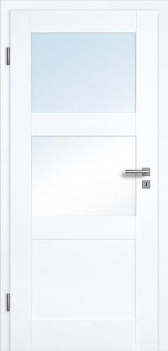 füllungsdesignTür Valencia 3G 2LA, Weißlack 3.0 Extraweiß, Designkante