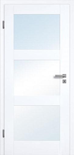 füllungsdesignTür Valencia 3G 3LA, Weißlack 3.0 Extraweiß, Designkante