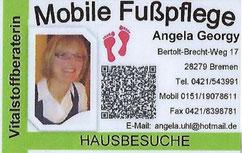 Mobile Fußpflege Angela Georgy - Werbegemeinschaft Habenhausen-Arsten