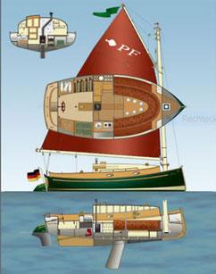 Catboot Pommersche Flunder (Projektname: Catboot Typ C)