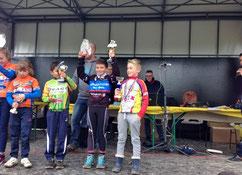 1er Timéo Gouzi (Pupille) cyclo-cross à Montauban Abattoirs (82) le 11 Novembre 2016