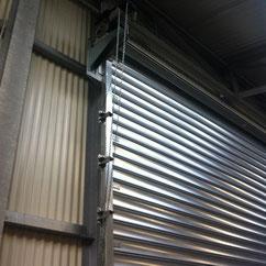 Rideau métallique galvanisé