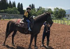岩手 乗馬 しずくいしYU-YUファーム(引き馬体験)