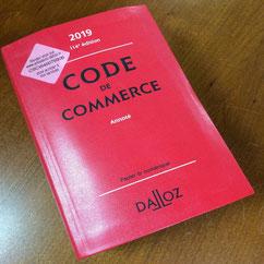 code du commerce pour Laurence RICOU avocate à Saintes